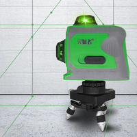 12 Lines 3D Level Self Leveling 360 Horizontal And Vertical Cross Super Powerful Green Laser Beam Line