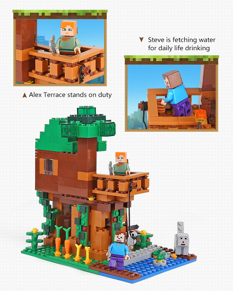 406Pcs Mine World Minecrafted 18009 Jungle Tree House Building ... on wooden doll house plans, toy wood plans, toy dog house plans, toy school house plans, toy boat plans, toy castle plans, deck plans, toy wooden tree houses, toy dollhouse furniture, tiny house plans, toy kitchen plans, wooden toy airplane plans, toy train plans,