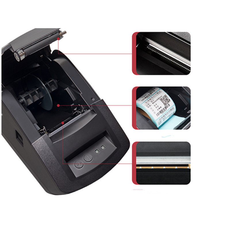 NEW Bar code thermal printer clothing goods price Qr code food label adhesive sticker label printer retail receipt printer in Printers from Computer Office