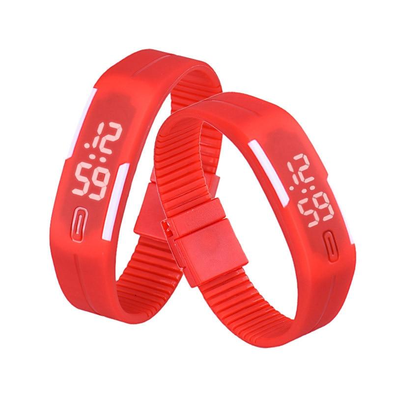 MEIBO 2017 Candy Color Men's Women's Watch Rubber LED kids Watches Date Bracelet Digital Sports Wristwatch for student candy color leather bracelet