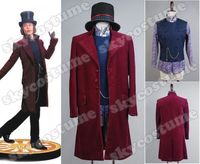 Найти счастье Willy Wonka Charlie и шоколадный завод, куртка Тренч с принтом «Johnny Depp», пальто костюм для косплей, изготовленный на заказ