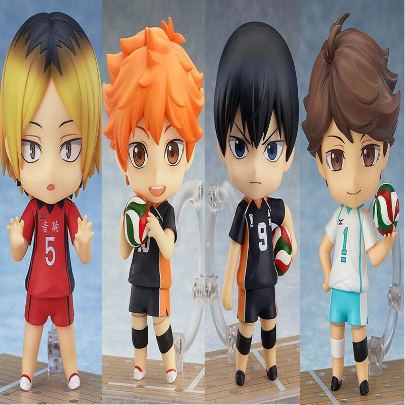 Haikyuu Figures Nendoroid Hinata Syouyou 489# 563# 461# 605# Kageyama Tobio Figure PVC 10CM Japanese Anime Volleyball Figures