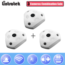 hot deal buy lintratek wireless surveillance panoramic camera 360 degree hd 960p security ip camera fisheye video two way audio home monitor