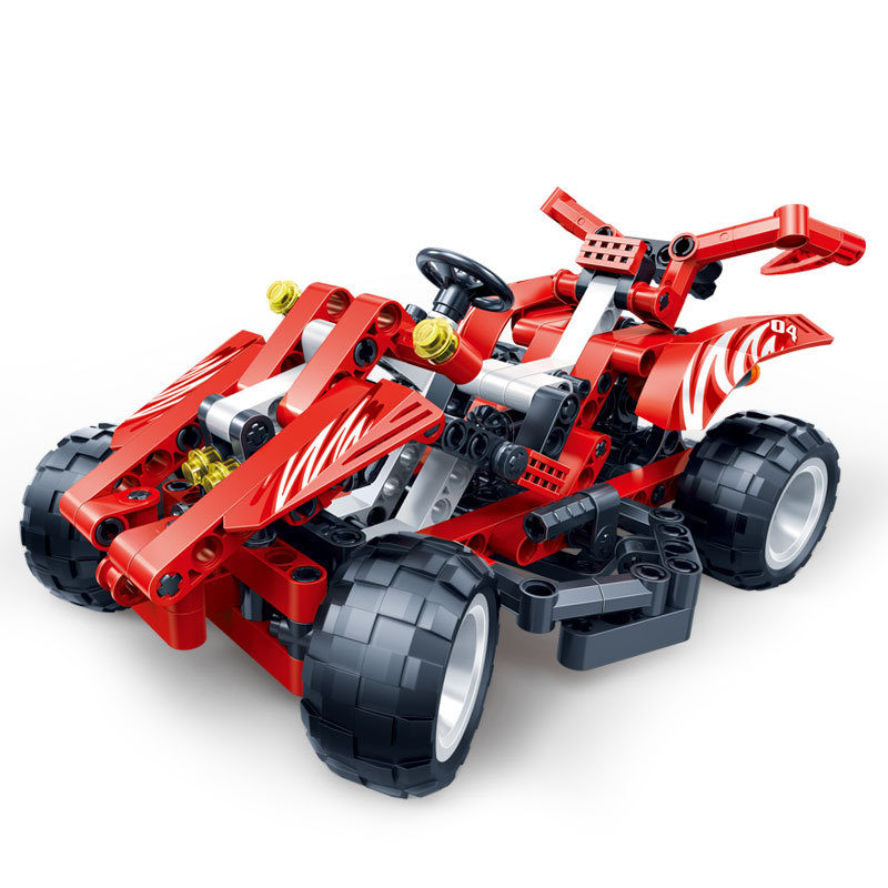 Technic City 3D SUV Mountain Red Racing Car Building Blocks Sets Kits Bricks Classic Model Kids Toys Compatible Legoings Friends weile technic city snowmobile model building blocks sets bricks kids classic toys gifts for children compatible legoings car