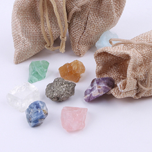 12pcs Mineral Collection Chakra Specimen Raw Natural Crystal Stone For Children Decoration Gemstone цены