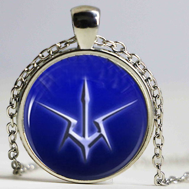 Code Geass Order Of The Black Knights Emblem Glass Photo Necklace In