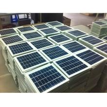 5 шт. Панели солнечные комплект для солнечного зарядного устройства клетки баров и поделок своими руками, 2 Вт 9V 180mA135mm* 125 мм Стекло ламинированные поликристаллические Кремниевые Солнечные Батареи