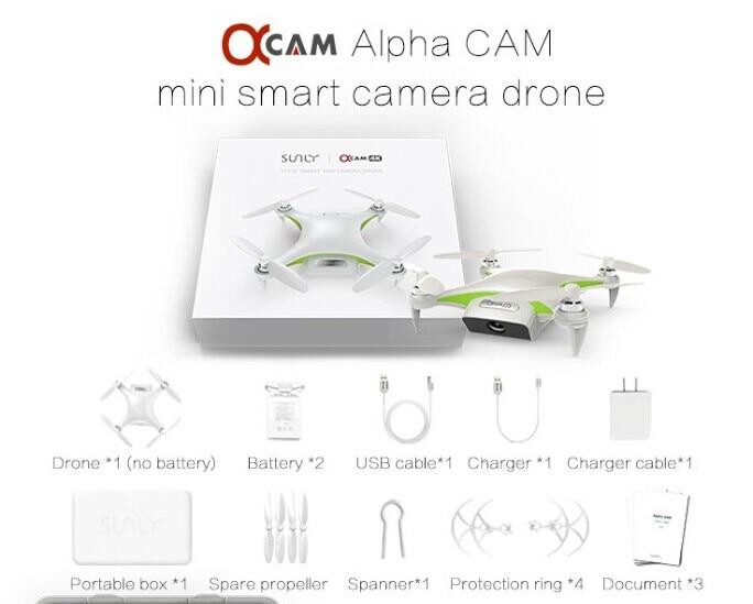 Alpha CAM Mini Smart WiFi FPV Drone White UAV with 4K HD Camera GPS Unmanned Aerial Vehicles GPS fpv x uav talon uav 1720mm fpv plane gray white version flying glider epo modle rc model airplane
