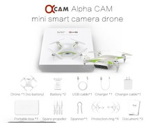 Alpha CAM Mini Smart WiFi FPV Drone White UAV with 4K HD Camera GPS Unmanned Aerial Vehicles GPS