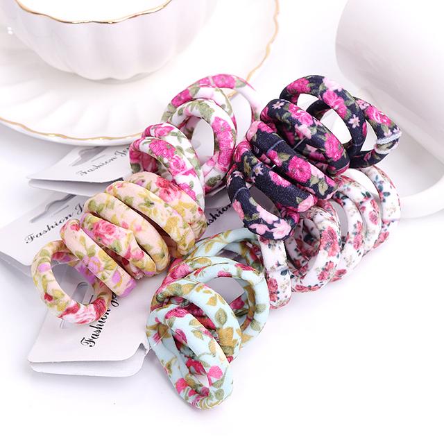 Flower Print Hairband Set