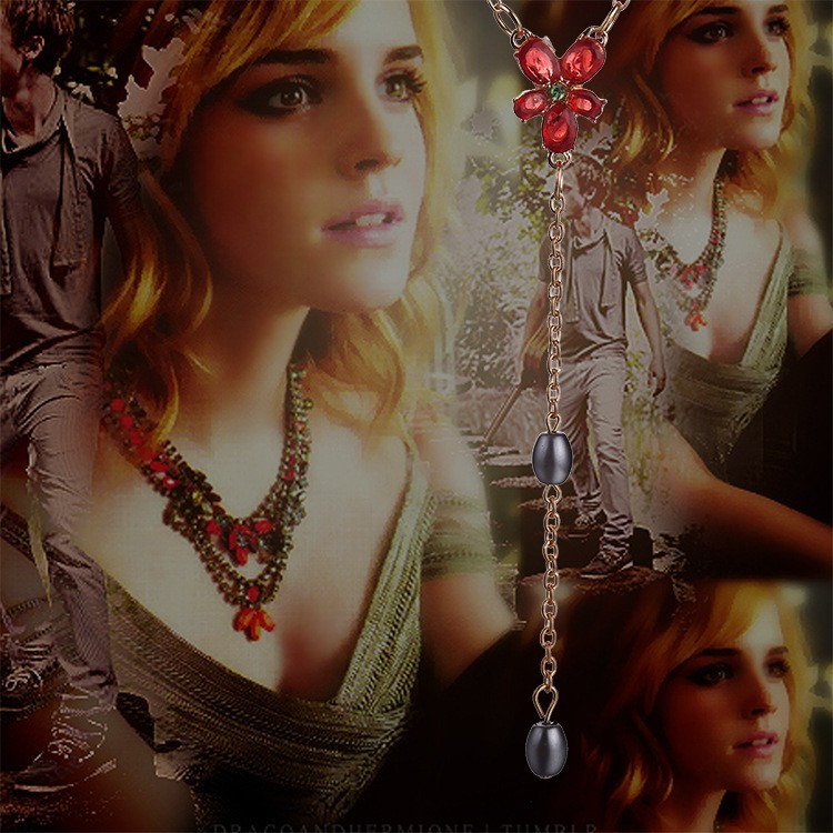 Harry Potter Hermione's Crystal Flower Necklace
