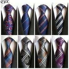 mens fashion tie for polyester silk necktie dress business gravata men ties plaid stripes casual suit with tie handkerchief A00