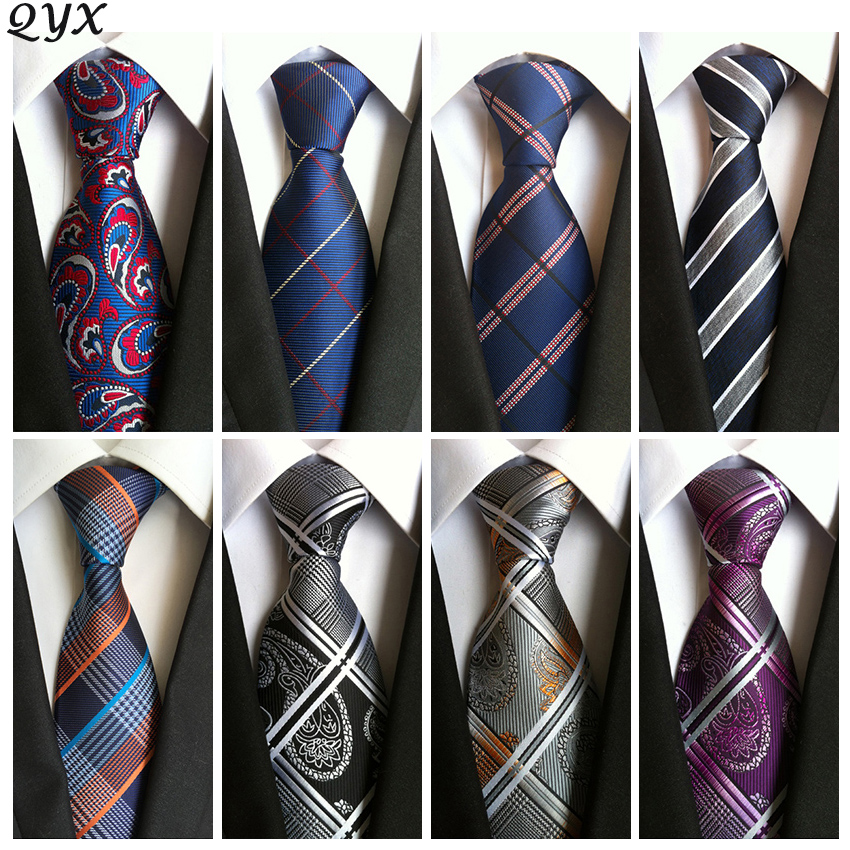 2016 vintage mens fashion tie polyester silk necktie dress business gravata men ties plaid stripes casual suit with tie A000