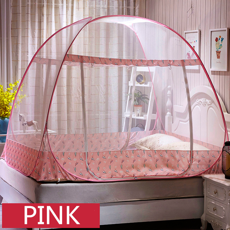 Romantic Yurt Mosquito Net Adults Canopy Netting For Single Double Bed Portable Bed Tent Mesh For Kids moustiquaire zanzariera