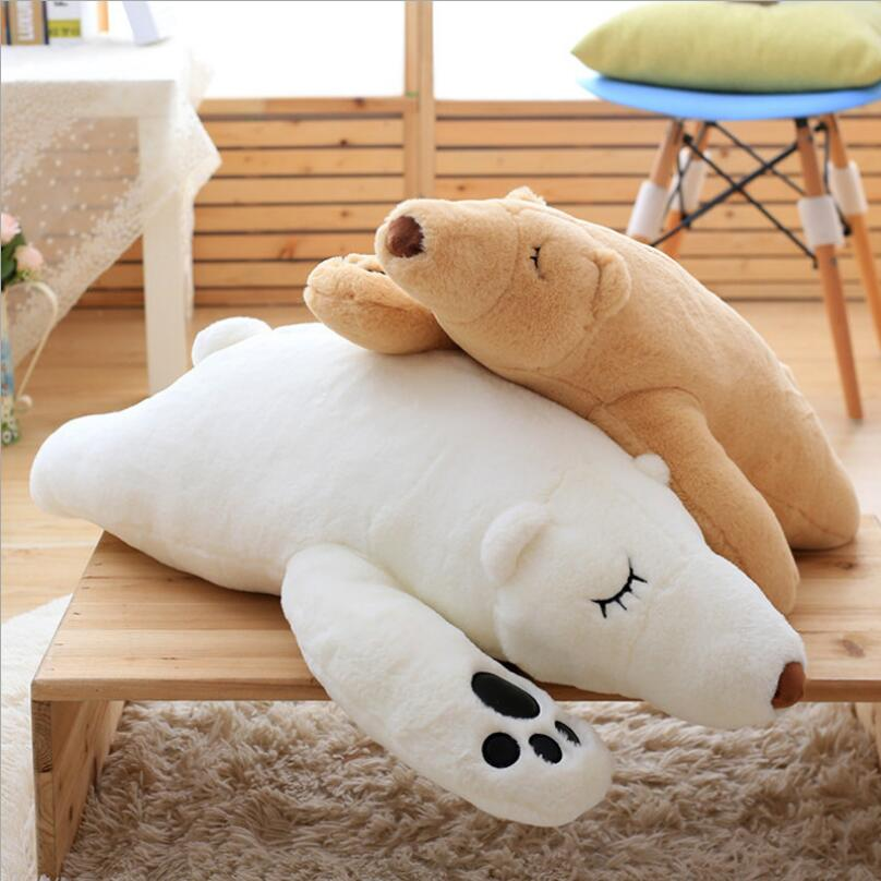 ใหม่สร้างสรรค์หมีตีนหมีของเล่นตุ๊กตาหมีขั้วโลกยัดไส้สัตว์นุ่มของเล่นเด็กของขวัญวันเกิด
