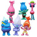 Disney New Kids Personalized Christmas Gift Trolls Ugly  6pcs 2 Generation Princess Doll Anime Toy Figures Toys for The Children