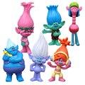 Disney New Kids Presente De Natal Personalizados Trolls Feio 6 pcs 2 Geração Princesa Boneca Toy Figuras Anime Brinquedos para O crianças