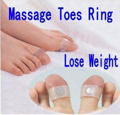 Massage relaxation slim series magnetic slimming toe ring as acupoint massage lose weight as body beauty shaping product.