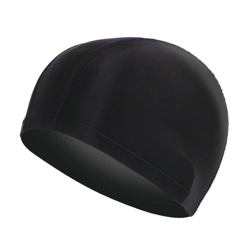 Durable Elastic Men Womens Unisex Swimming Pool Hat Beach Head Cap Protect Ears Long Hair Sports Swim headwear