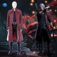 Manluyunxiao New Game DMC 5 Costume Dante Cosplay Costume Deluxe Outfit Halloween Carnival Costume for Men Custom Made