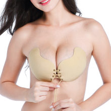 54f1fc48e075b Sexy Women Silicone Bra Self Adhesive Invisible Bra Strapless Stick Gel Push  Up Bralette Backless Underwear