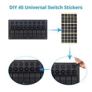 Image 2 - 8 Gang Schalter Panel Auto Styling Wasserdicht 12V Auto Auto Boot Marine Led Rocker Switch Panel Circuit Breakers mit Sicherung