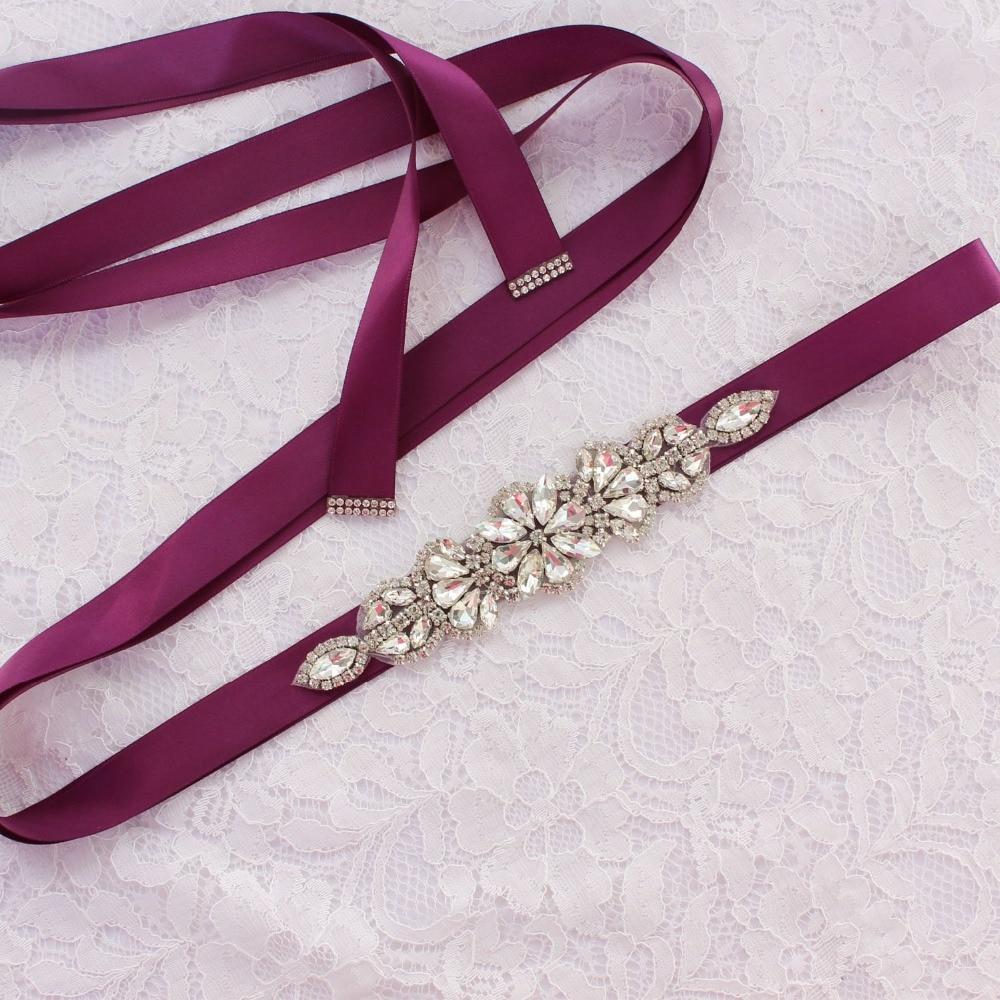 YJWSXF Exquisite Crystal Rhinestone Wedding Dress Belt Bride Wedding Dress Girdle
