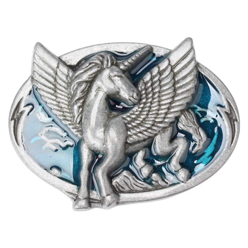 Wings Horse Belt Buckle Horse Series Simple Smooth Buckle