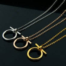 Gold Color Horseshoe Pendant Necklace for women Stainless Steel Vintage Lucky Choker Necklace Men Link Chain Jewelry Gift(China)