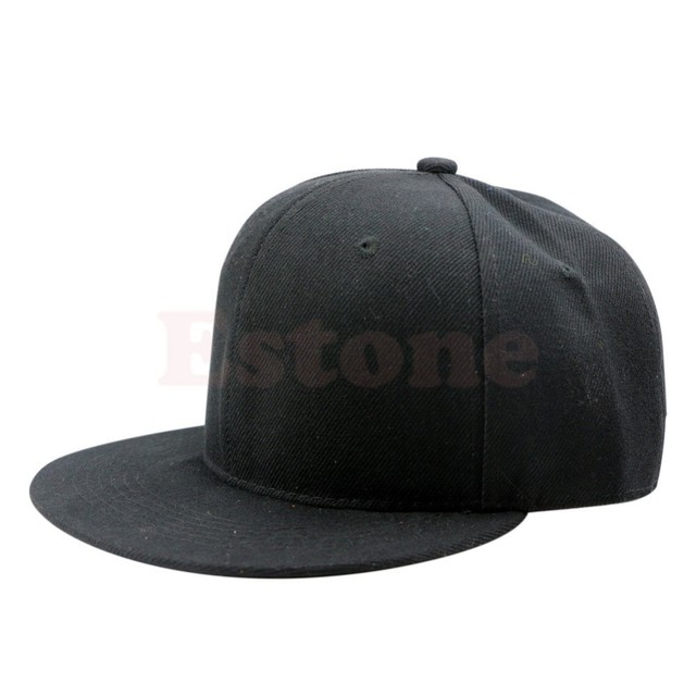 f19fab87709 Blank Plain Snapback Hats Unisex Men s Hip-Hop Adjustable B-boy Baseball Cap