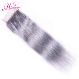 Image 4 - MS 사랑 pre 컬러 실버 그레이 번들 스트레이트 레미 브라질 인간의 머리카락 묶음과 함께