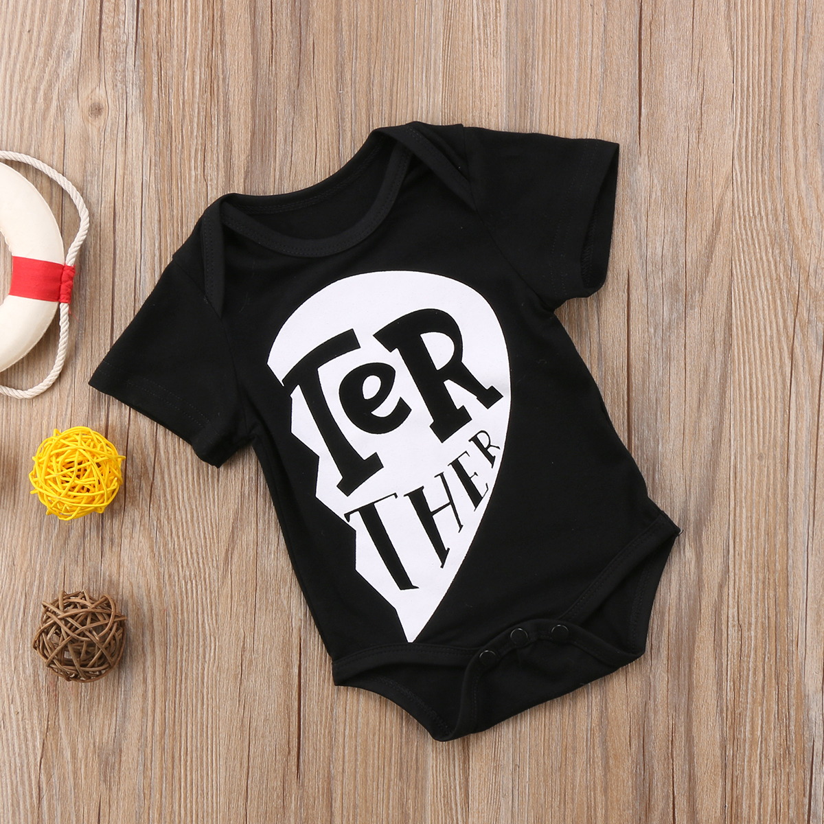 71c0e5b38dfb Kids Newborn Baby Boys Brother Sister Romper T Shirt Cotton Tops ...