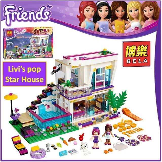 Bela Building Block 10498 Compatible Friends Livis Pop Star House