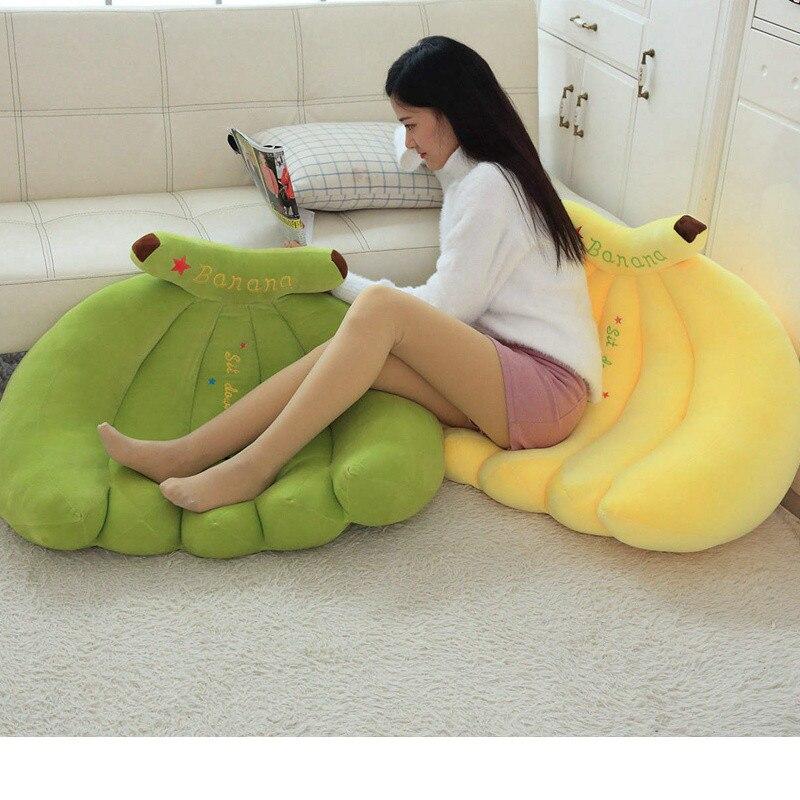 Creative banane canapé doux banane en peluche oreiller personnel coussin petit ami oreiller pour les filles Valentine cadeau en peluche jouet décor à la maison