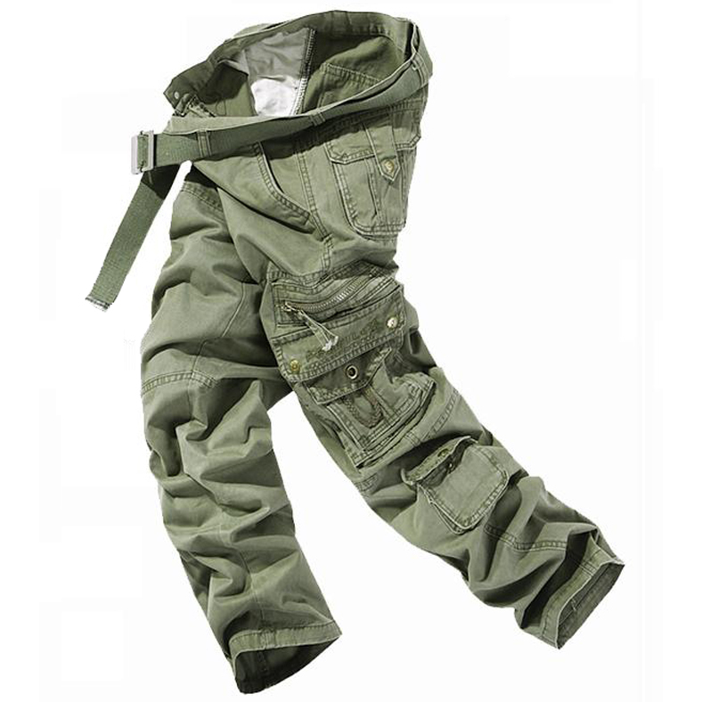 Mens Fashion Army Cargo Camo Combat Military Work Trousers Camouflage Pants