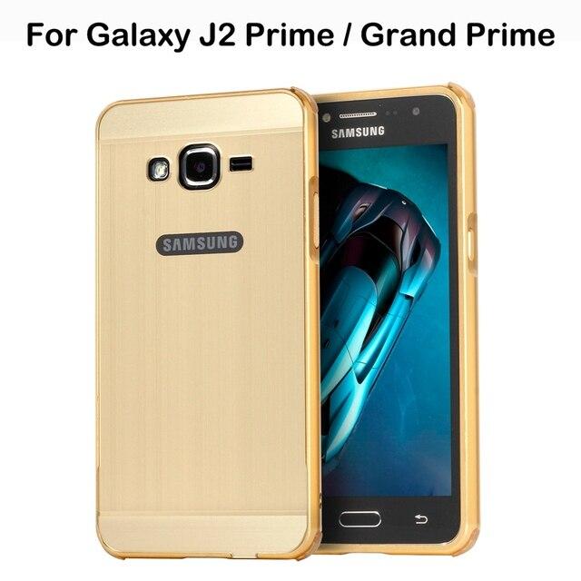 reputable site 9c005 b2d4c US $7.99 20% OFF|Back Cover For Samsung Galaxy J2 Prime G532F Bumper Case  Aluminum For Samsung Galaxy Grand Prime SM G530 G531H G530H G530W Case-in  ...