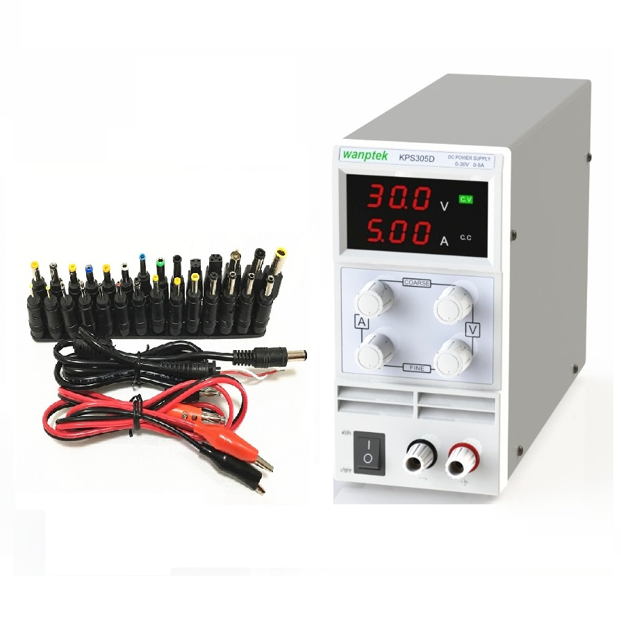 <font><b>30V</b></font> <font><b>5A</b></font> DC <font><b>Power</b></font> <font><b>Supply</b></font> <font><b>Adjustable</b></font> 3 Digit Display Mini Laboratory <font><b>Power</b></font> <font><b>Supply</b></font> Voltage Regulator KPS305D For Phone Repair image