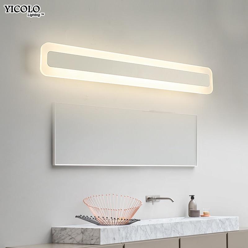 Modern led mirror light 40cm 60cm 80cm 100cm waterproof wall lamp fixture AC90-260V Acrylic wall mounted bathroom lighting