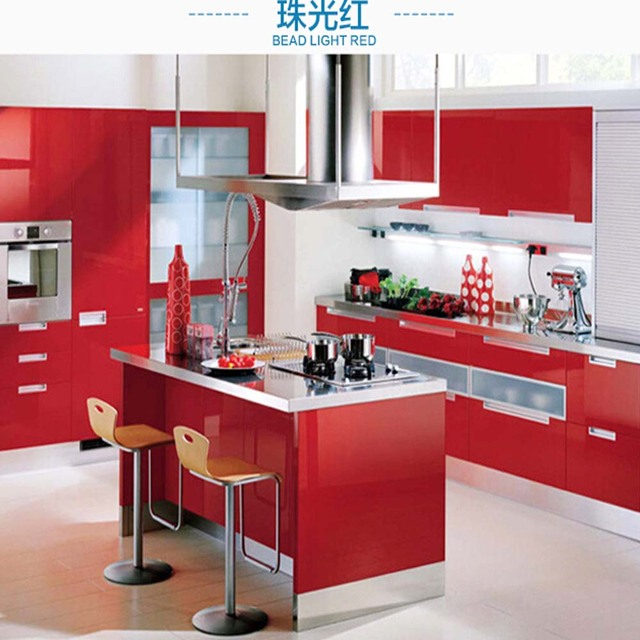 Kaka Pvc Kitchen Furniture: Kitchen Cabinet Self Adhesive Wallpaper Sticker Wardrobe
