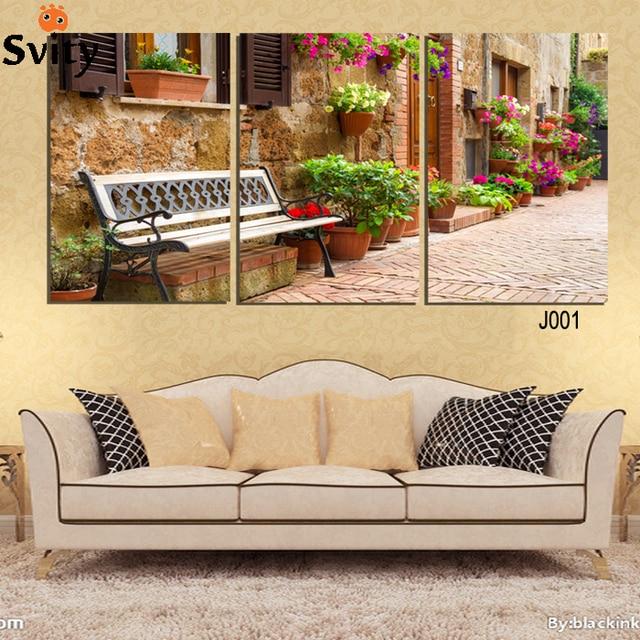 Aliexpress.com : Buy 3 Pcs gardening scenery Painting Wall Art ...