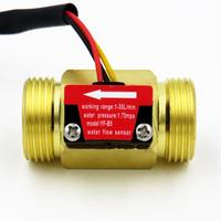 "YF B5 iSentrol Hall Effect Flow Sensor Water 2 45L/min BSP G3/4"" Threaded End Quick Connection 3% error Turbine flowmeter|Flow Sensors| |  -"