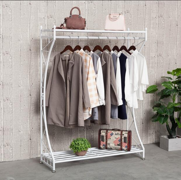 European style tie yi clothes rack hang hanger creative bedroom clothes rack fashion clothing store display rack