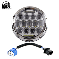 One Piece 7 Inch 75W LED Projector Headlight Sealed Beam Head Lamp With Bulb DRL For