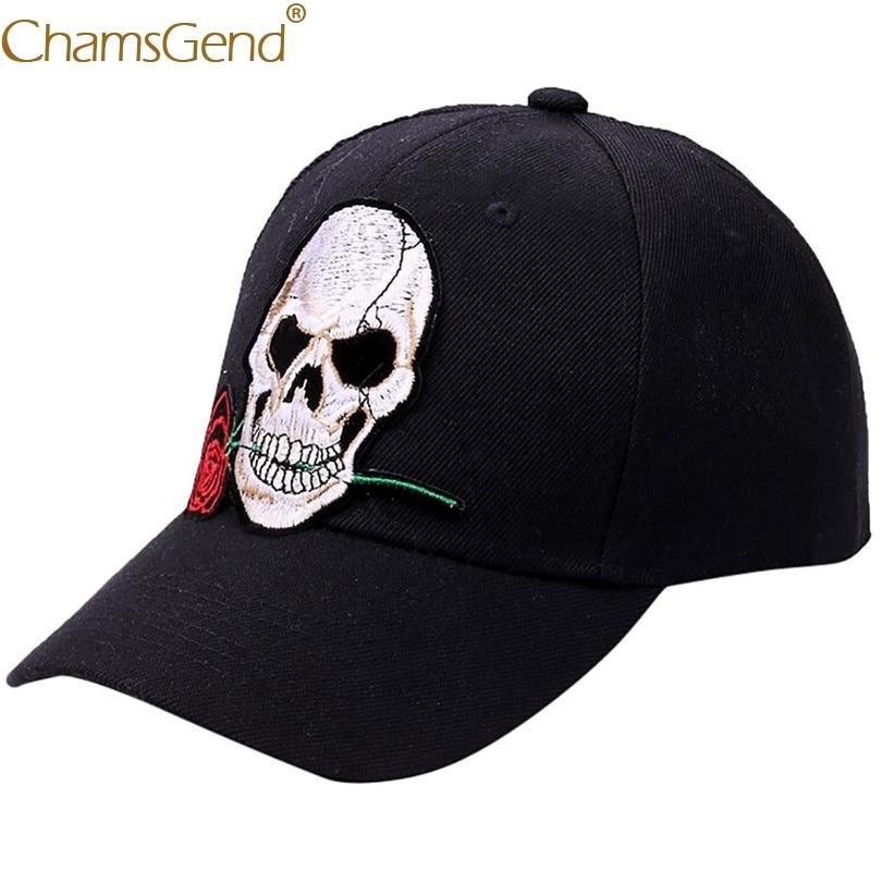 Hot Sale Baseball Cap For Women Skull Rose Applique Hip Hop Dad Hats Baseball Caps 80704Drop Shipping