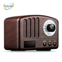 EStgoSZ Wooden Retro Wireless Bluetooth Speaker 5W Loudspeaker Supprot USB TF Card AUX FM Radio Music Soundbar Speaker Woofer