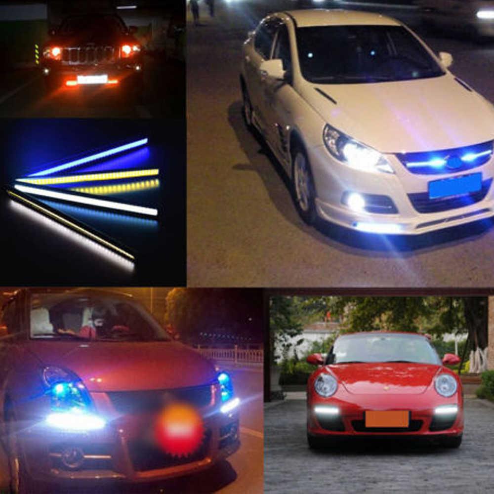 الأبيض/الأزرق/الجليد الأزرق/الأحمر للماء 17 سنتيمتر البوليفيين السيارات led قطاع الخفيفة drl الضباب الخفيف القيادة مصباح الأبيض 12 فولت