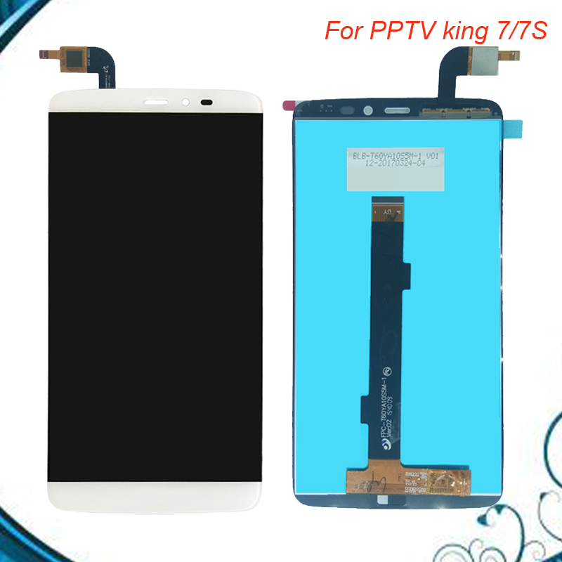 100% Tested OK For PPTV KING 7 7S LCD Display+Touch Screen Digitizer Assembly+Free Tools Free Shipping IN Stock