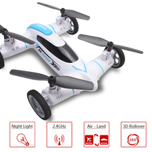 Alta Calidad Volar X9 Coche 2.4G 4CH Control Remoto Syma RC Quadcopter helicóptero Drone Tierra/Cielo de 2 Funciones en 1 UFO VS x5c x5sw