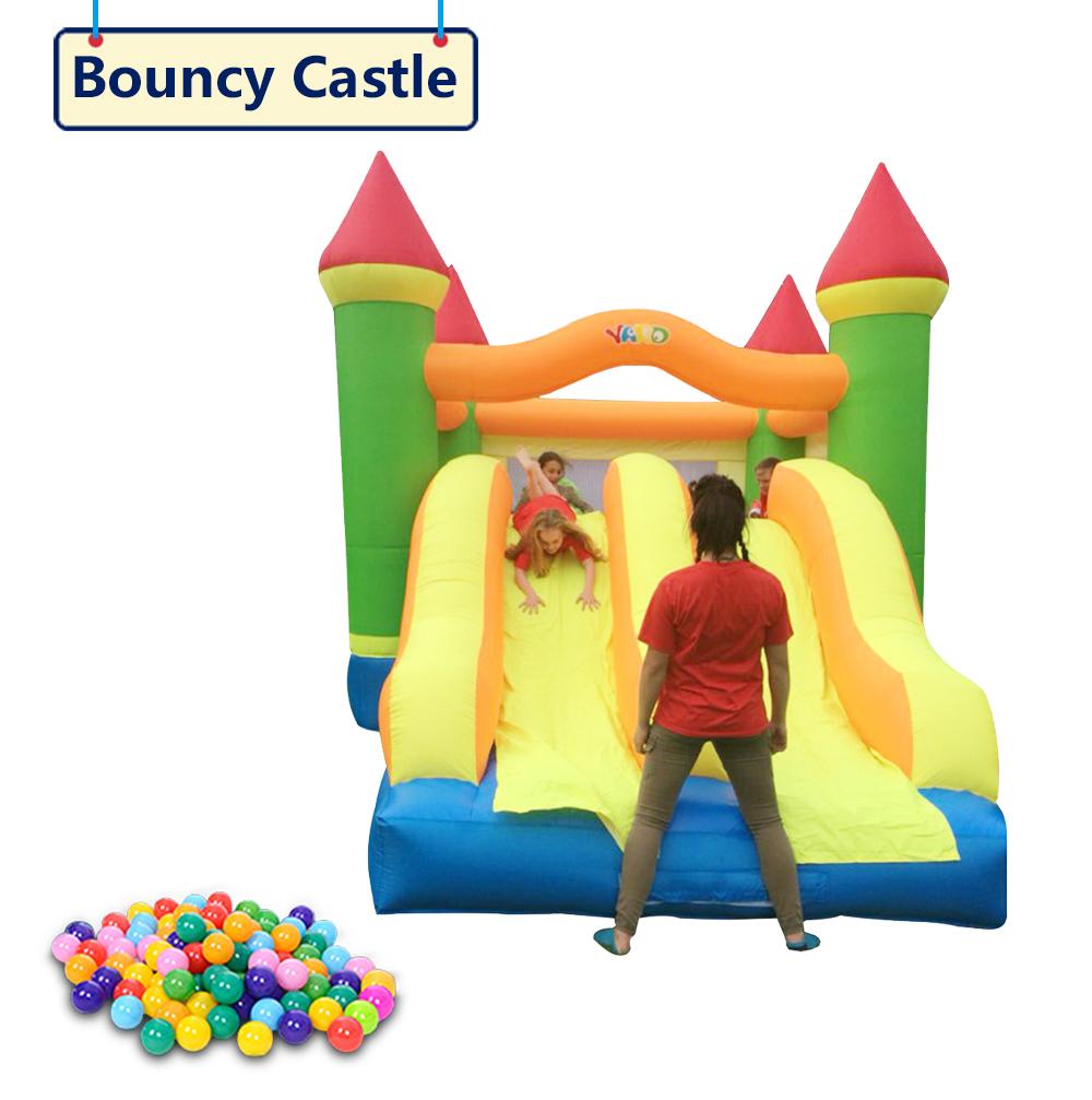 HTB1Nh7sSXXXXXbfXVXXq6xXFXXXB - YARD Giant Dual Slide Inflatable Jump Castle Bouncy House with Blower