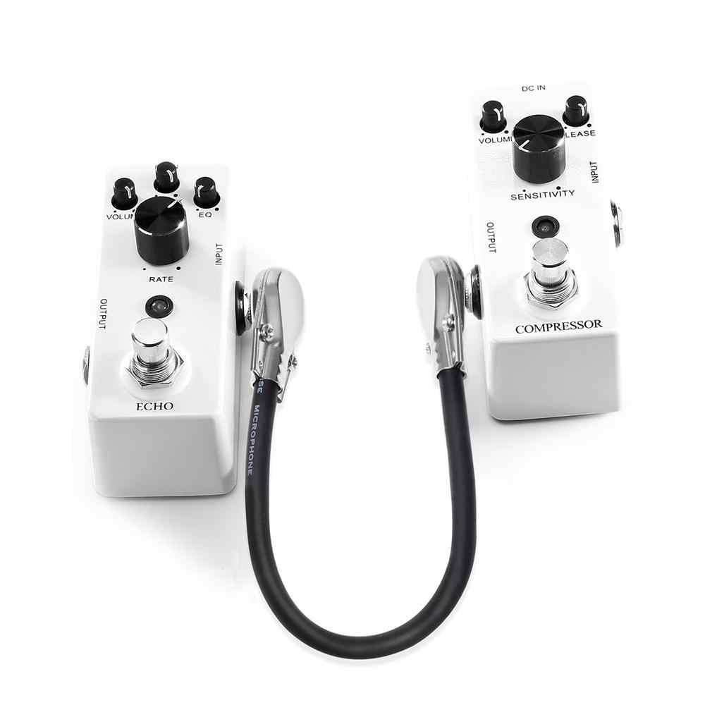 Гитары патч для езды на велосипеде кабель сигнальный кабель DMX 30/15 см Профессиональный правый угол гитара эффект кабели для педалей шнур Медный провод аксессуар